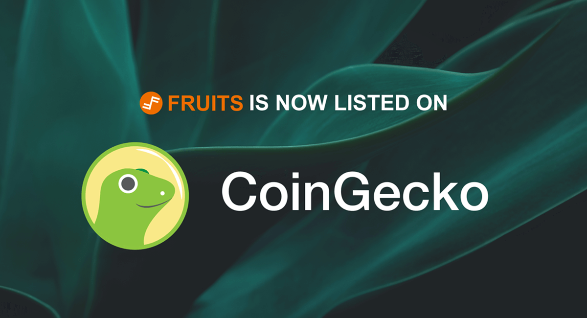 Fruits (FRTS) is Now Listed on CoinGecko
